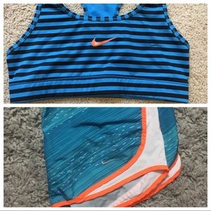 Nike bra + shorts set